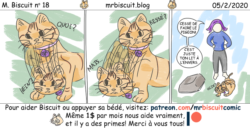 M. Biscuit no 18: Faire le pigeon
